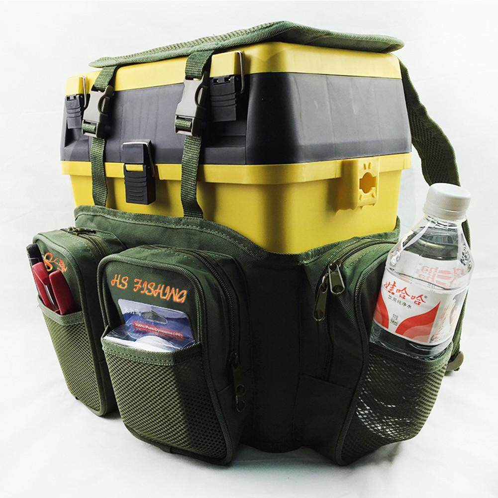 EM Fly Fishing Backpack Fishing Outdoor & Adjustable Size+Fishing Tackle Box