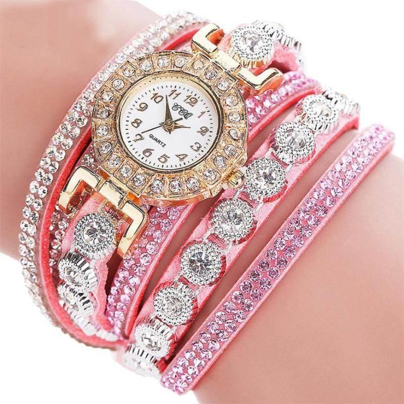 Aimecor Fashion Luxury Rhinestone Bracelet Watch Ladies Quartz Watch Casual  Wristwatch Relogio Feminino Malaysia