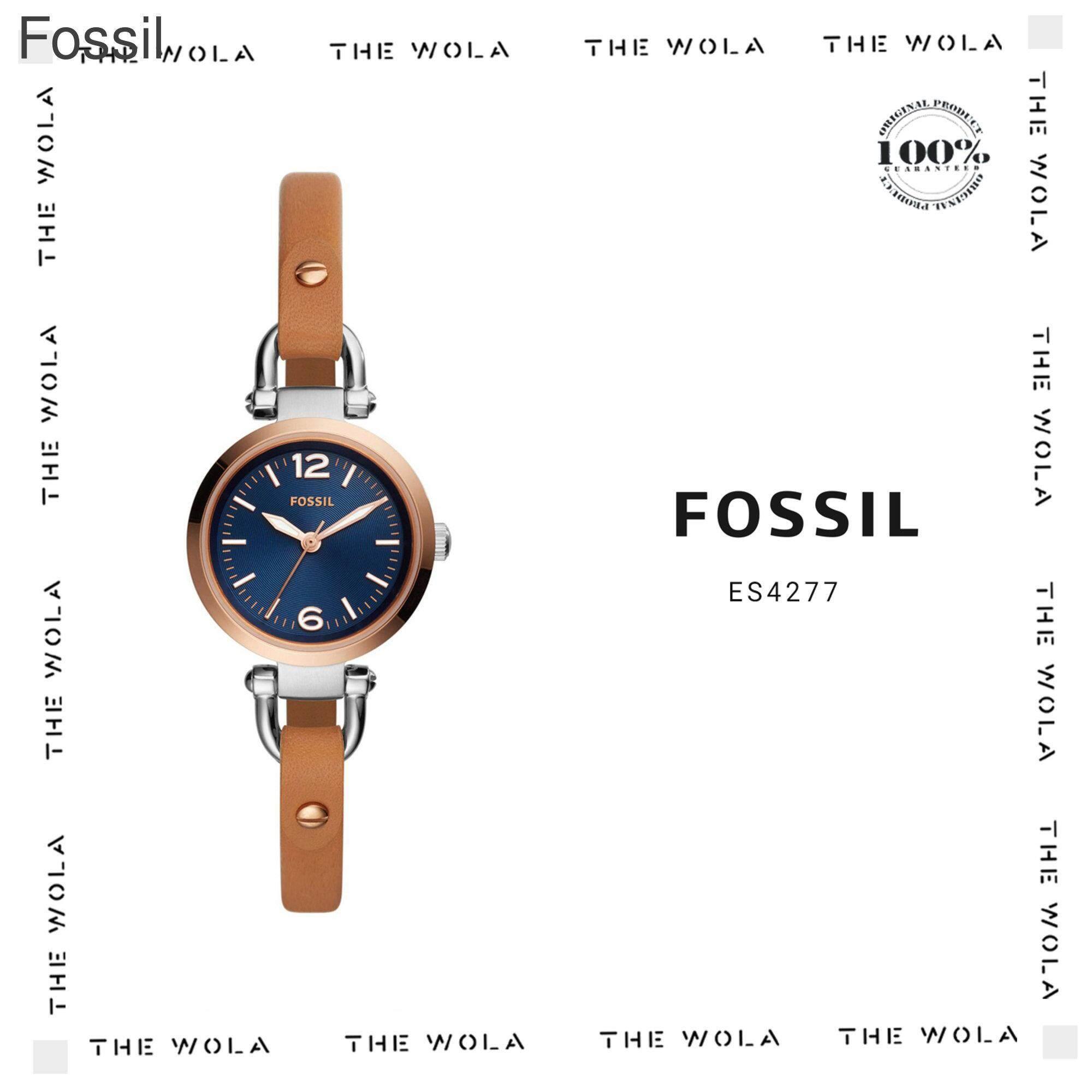 Fossil Jam Tangan Wanita Fs4839 Grant Chronograph Dial Brown Leather Original Es3950 Tailor Dark Casual Women Watch Es4277 Genuine 2 Years Warranty