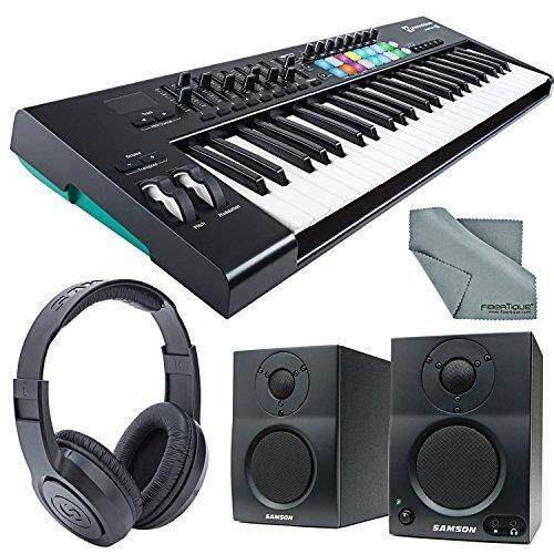 Novation Launchkey MK2 49-Key USB MIDI Keyboard Controller and Stereo Pair Bluetooth Monitor Accessory