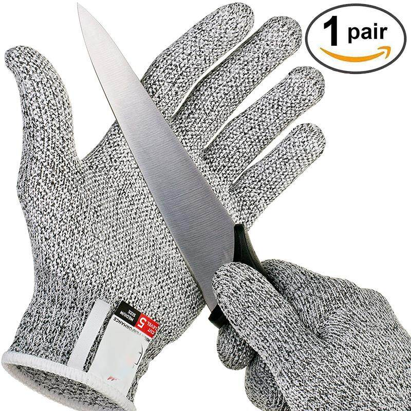 Wintin Anti-cut Gloves Safety Cut Proof Stab Resistant Stainless Steel Wire Metal Mesh Kitchen Butcher Cut-Resistant Safety Gloves
