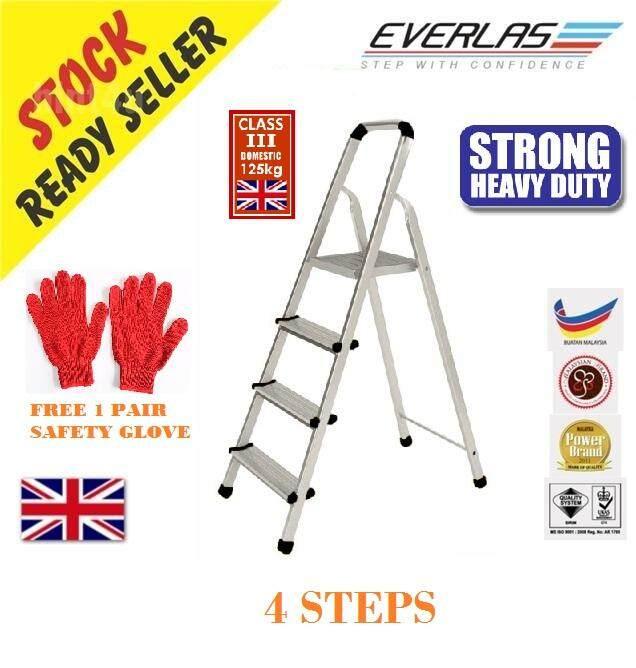 Everlas EZ04 4 Steps Heavy Duty 125KG Platform Ladder Tangga Lipat (PROMOTION PRICE)
