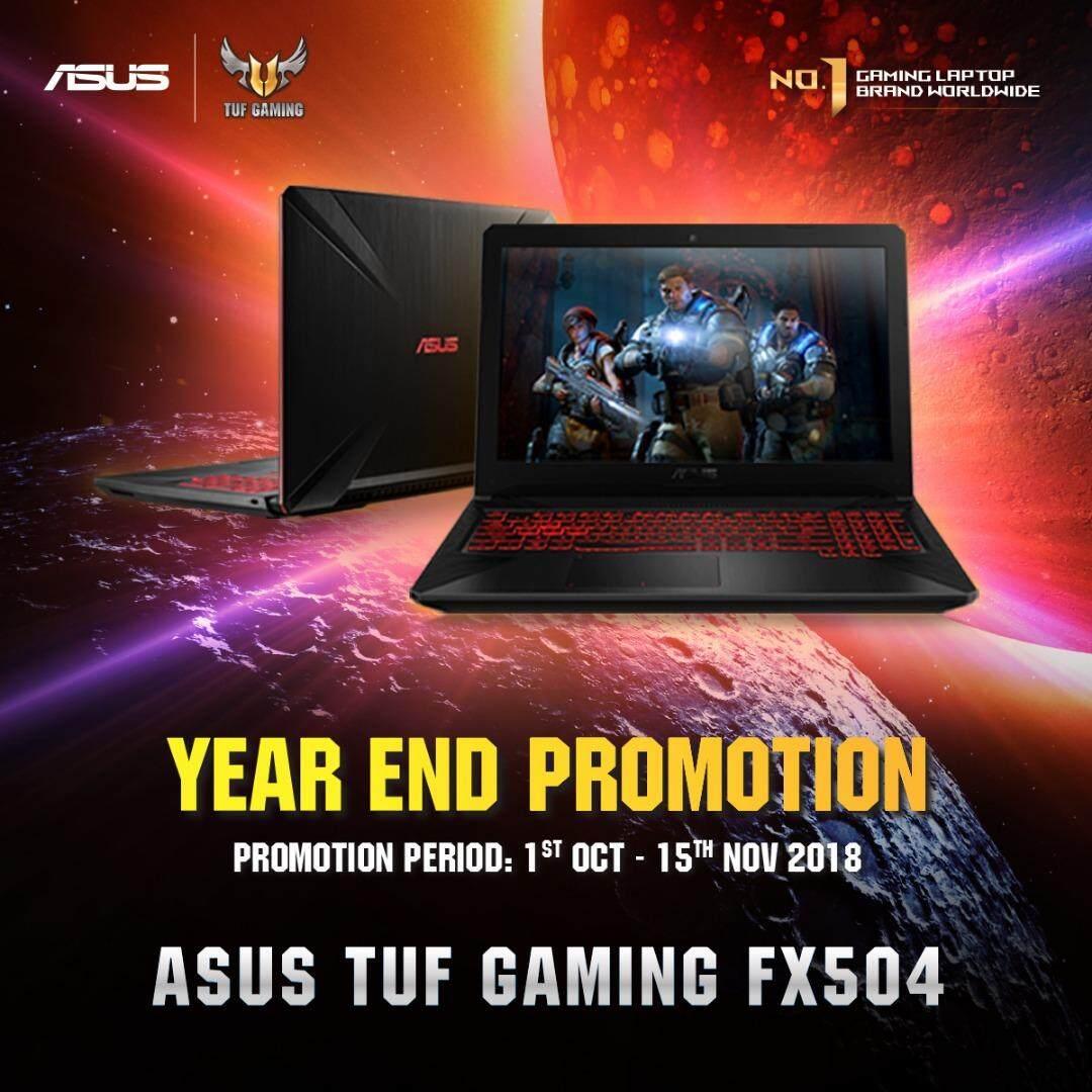 Asus TUF Gaming FX504G-DE4509T ( Hypercool i7-8750H (2.2GHz), 4GB DDR4 2666 (Extra 2 RAM Slots), PCIEG3x2 NVME 128G M.2 SSD + SATA 1TB Hybrid HDD (FireCuda), GTX 1050 4G GDDR5, 15.6 IPS AG, Win 10, Premium Steel, Warranty: 2 yrs Global by Asus, 2.3kg) Malaysia