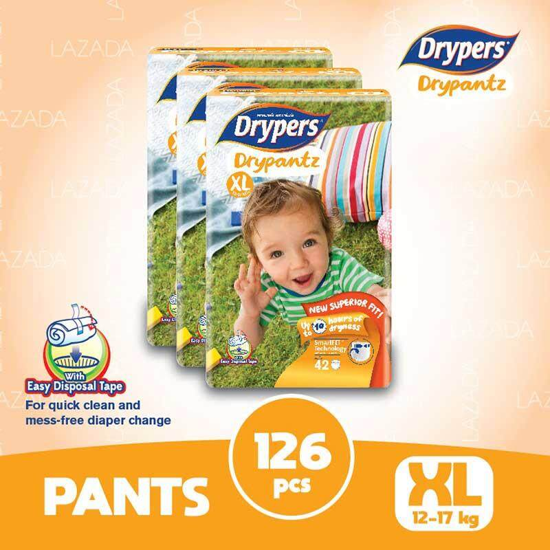 Drypers Drypantz XL42 x 3 packs (126 pcs)
