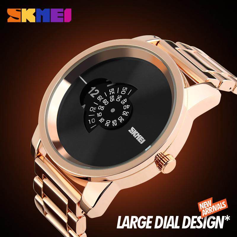 SKMEI NEW Men Fashion Watches Simple Quartz Watch Creative Roulette Big Dial Waterproof Wristwatches 1171 Malaysia