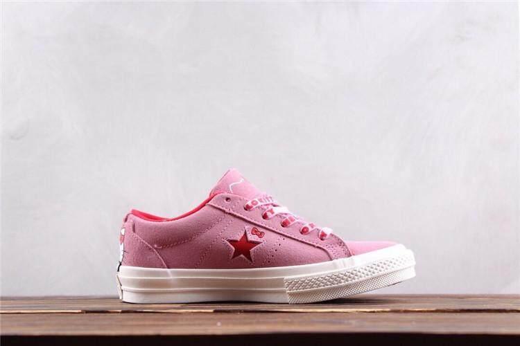 Converse Official WOMEN Skateboarding Shoes x HelloKitty Low Top Global  Sales ( Black ) 371cc212e1