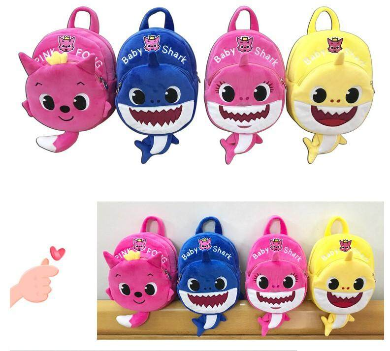 [ready Stock] Plush Toy Baby Shark Bag Backpack By Style Charming Online Boutique.