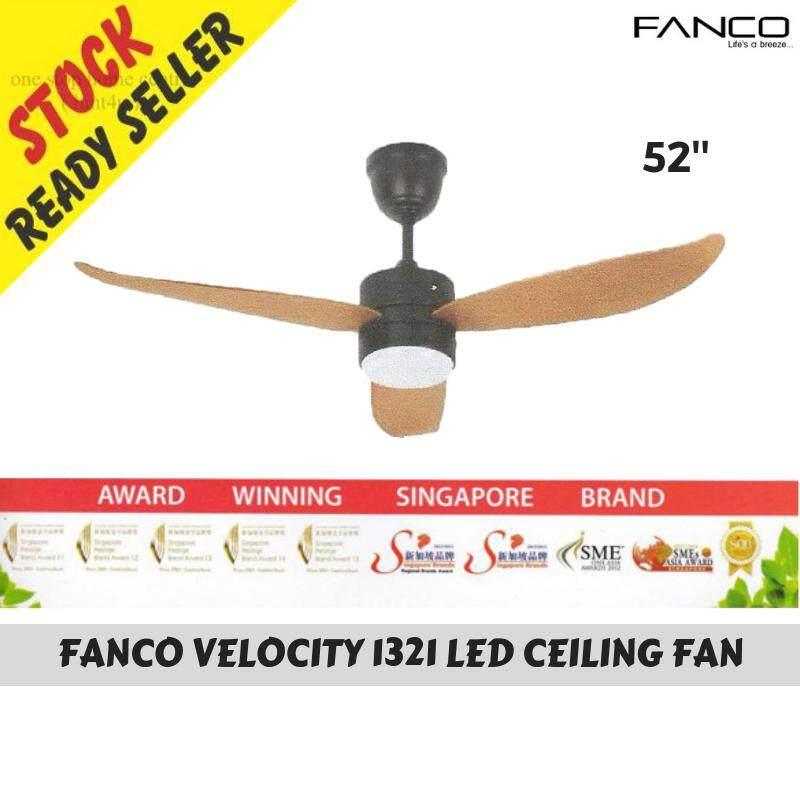 Fanco Velocity 1321 Led Ceiling Fan Wd