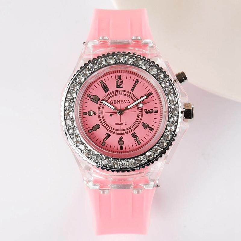 SYS Fashion LED Light Wristwatch Female Form Student Casual Sports Personality Jelly Luminous Watches for Children Malaysia
