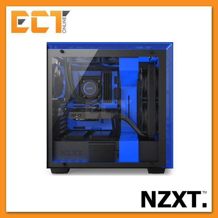 NZXT H700i Full Tempered Glass ATX Mid-Tower Gaming Casing Chassis (Blue) Malaysia