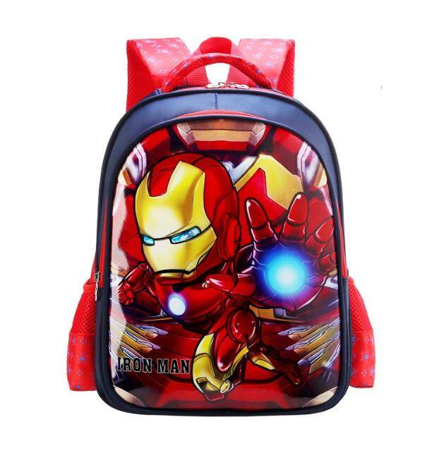 EcoSport School Bag Preschool Primary Junior 3D Cartoon Design Waterproof  Solid Wheels Pocket Kids Children Junior 59ff00752b