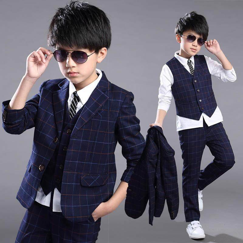 3pcs Set Boys  Formal Suit Prom Funeral Wedding Suit Clothes Kids Boys Coat  Pants Vest dc127e056fe5