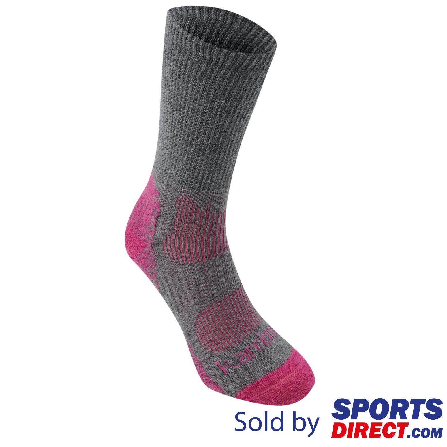 Karrimor Womens Merino Fibre Lightweight Walking Socks (grey/fuchsia) By Sports Direct Mst Sdn Bhd.