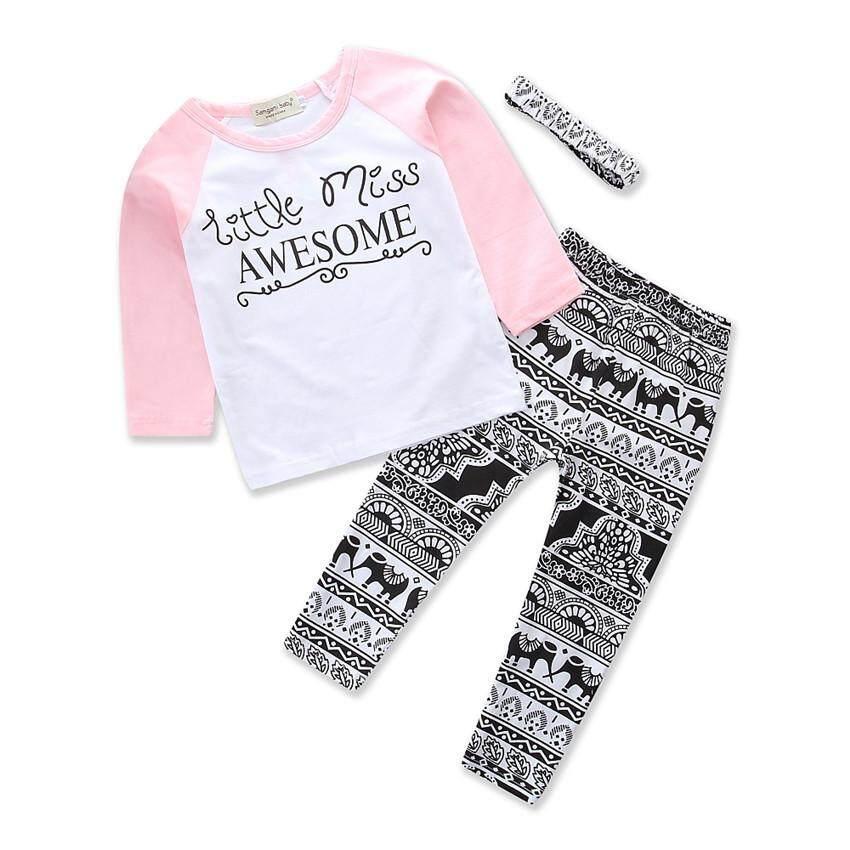 d5eafa075a6f 2019 New Spring Autumn Fashion Girls Clothing Sets Long Sleeve T-shirt+Printing  Pants