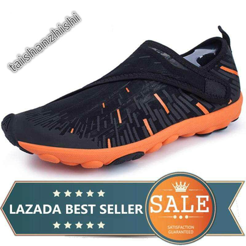 f2b883a70232 Men And Women Outdoor Beach Shoes Water Shoes Quick Dry Aqua Sneakers  Casual Shoes (Black
