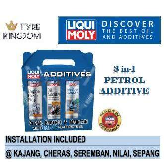 Liqui Moly 3 In 1 Petrol Additives Set (engine Flush Plus, Oil Additive & Fuel Injection Cleaner) By Tyre Kingdom.