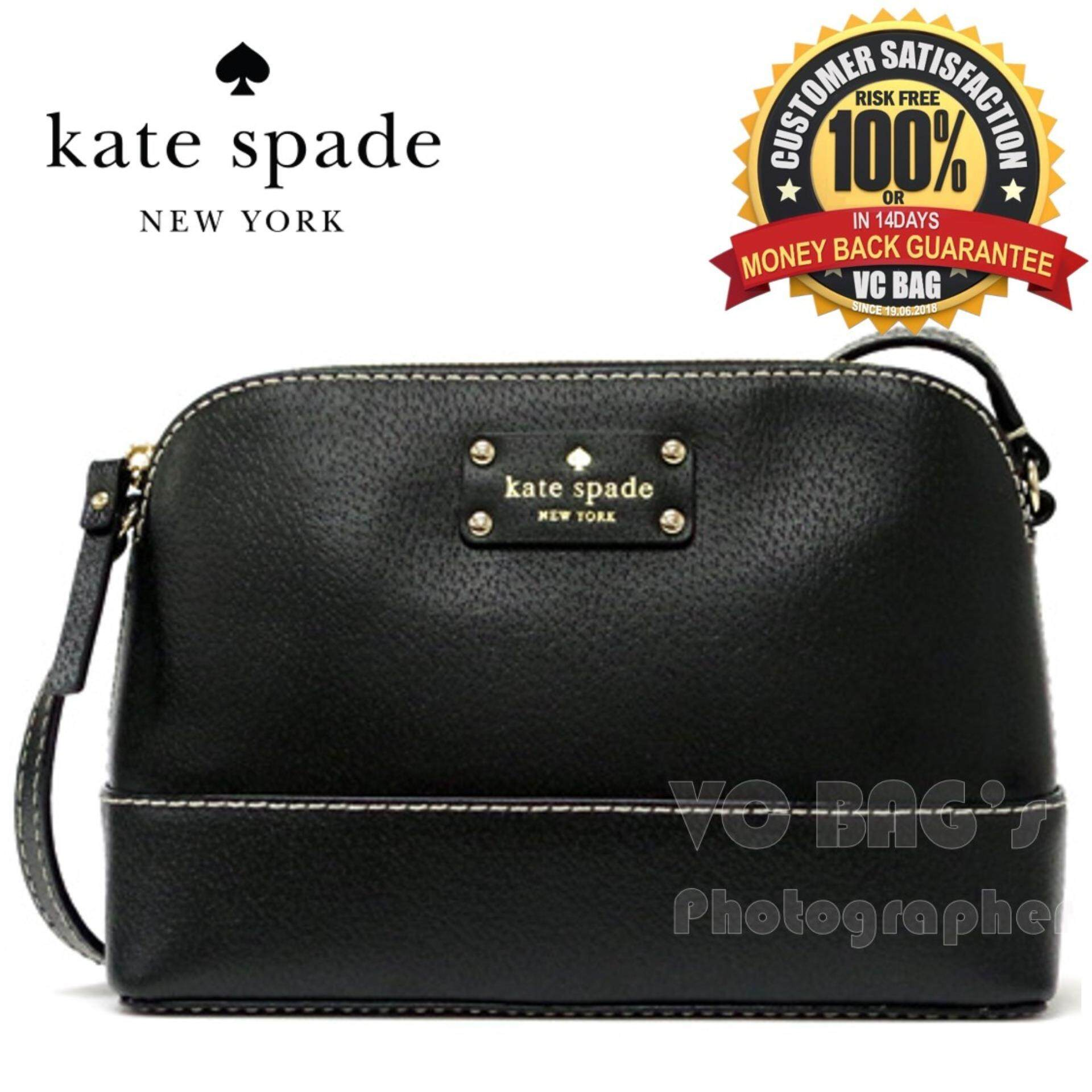 Kate Spade Wkru2895 Wellesley Hanna Shoulder Bag Black