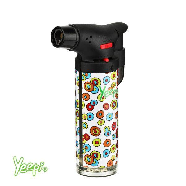Yeepi Jet Flame 4200A White Blowtorch Windproof Refillable (1unit)
