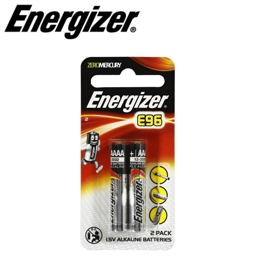 2PCS GENUINE Energizer AAAA Alkaline Battery 1.5V - E96BP-2 Malaysia