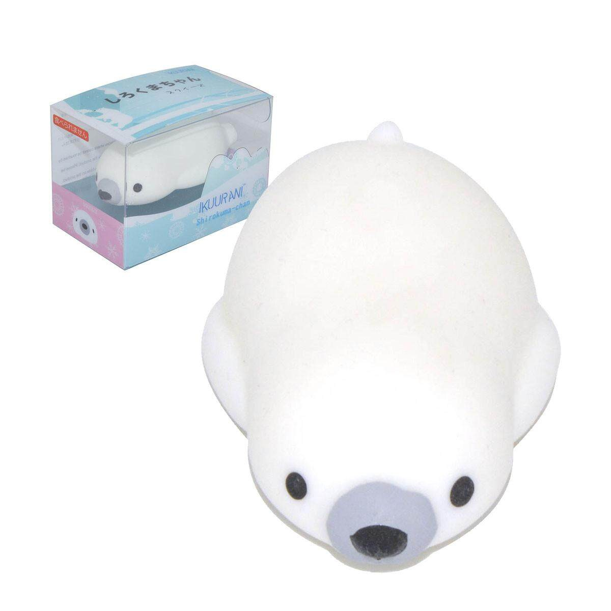 Ikuurani Polar Bear Mochi Squishy Squeeze 7.5x4x2cm Original Packaging Collection Gift Decor Toy By Freebang.