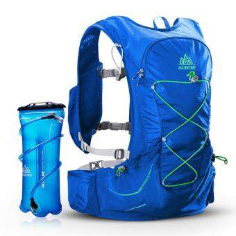 Diskaun AONIJIE Hydration Vest Running Water Pack Vest Marathon Hydration Backpack with Emergency Blanket Whistle Extra 3L Water Bladder promosi - Hanya ...