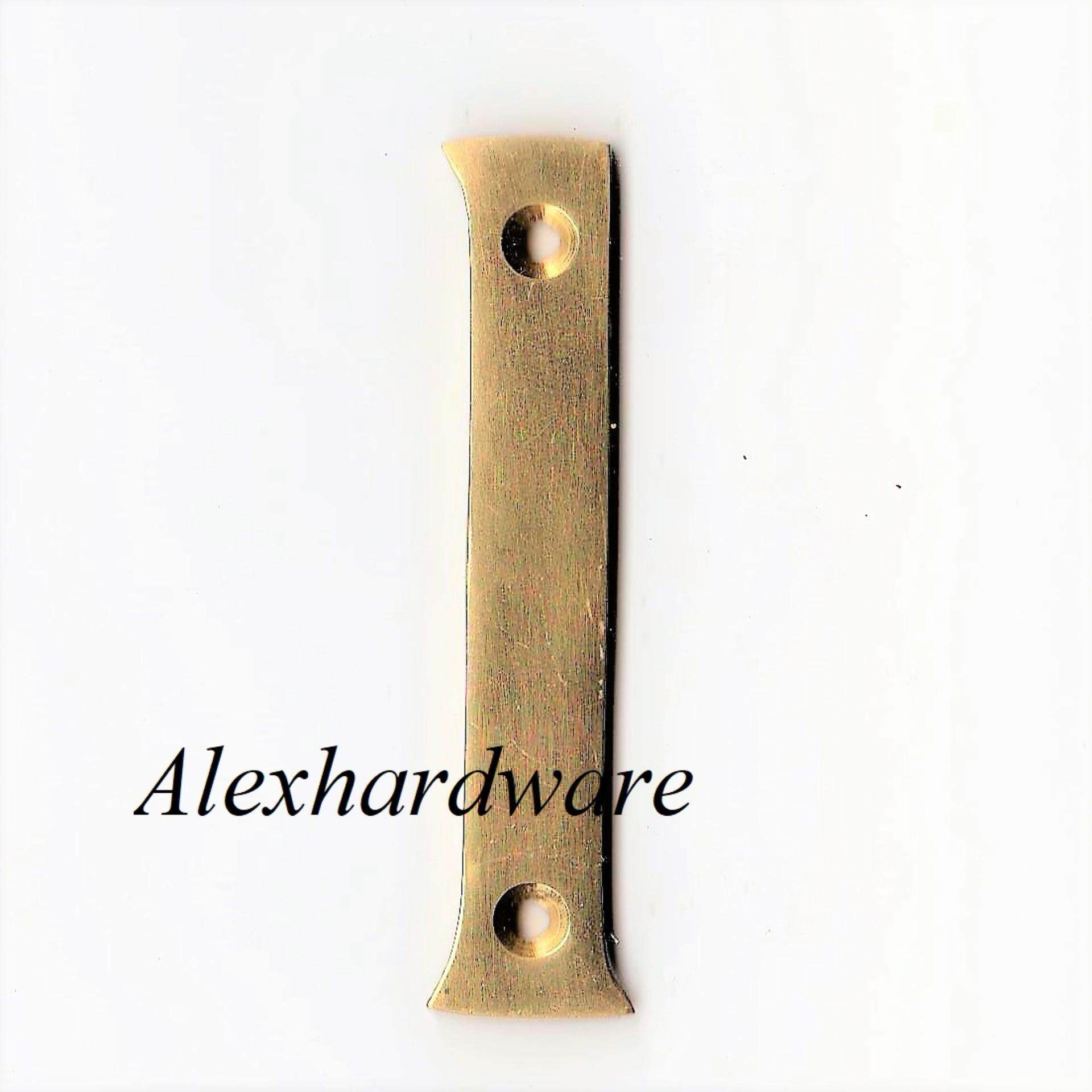 1 X Brass Number Plate (5cm*7.5cm) - 1 *stock Clearance By Alex Hardware.