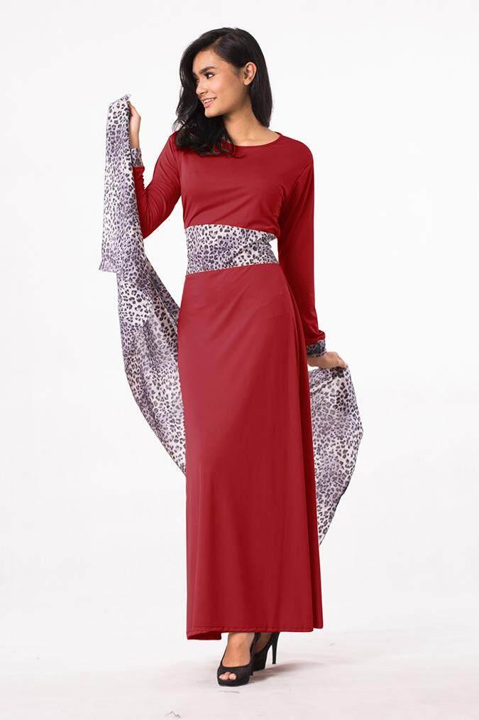 Longdress Batik Print LPT001-25E. Source · Fashion Leopard Design Jubah Dress - Including