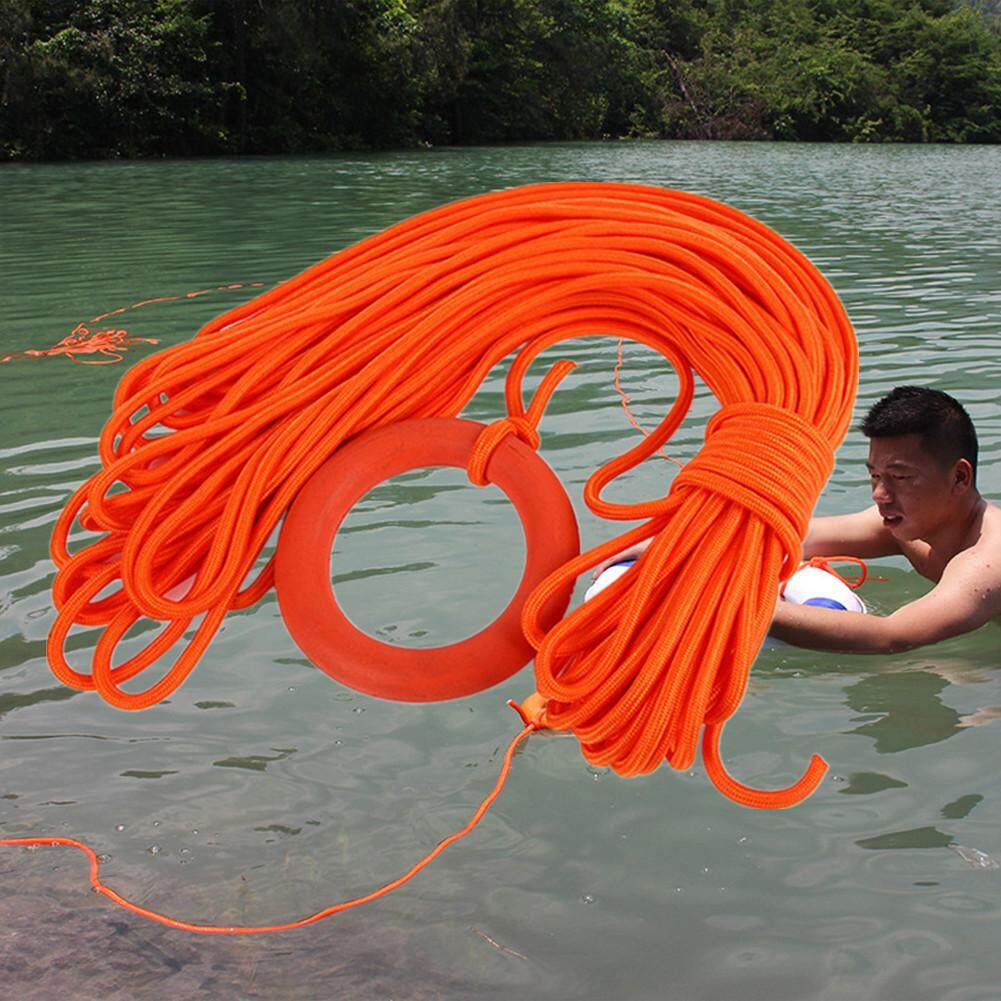 Gm 30m Diameter 8mm Floating Lifeline With Buoyant Water Rescue Rope With Hand Ring By Gaowang Mall.