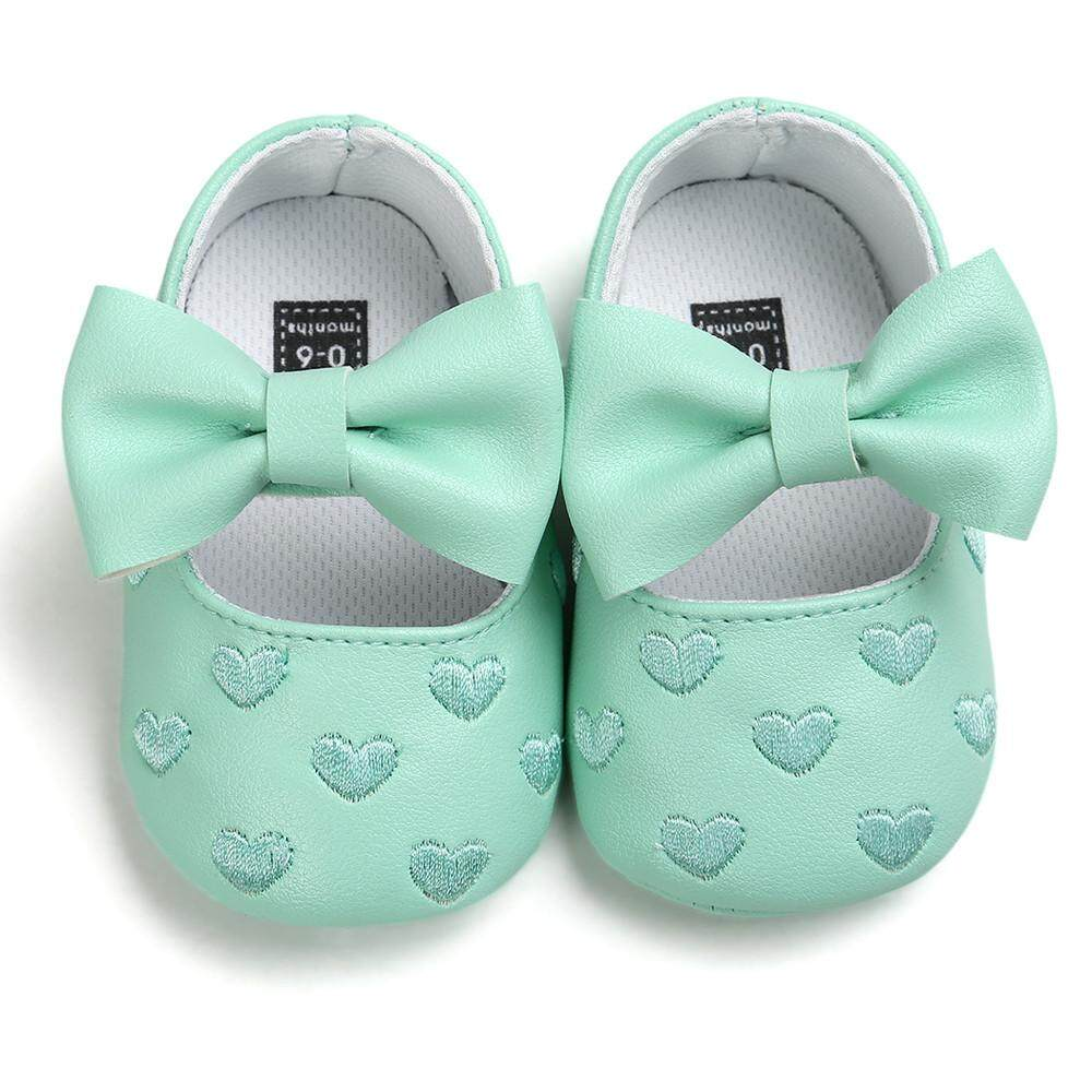 Radocie Baby Girl Bowknot Leater Shoes Sneaker Anti-Slip Soft Sole Toddler By Radocie.