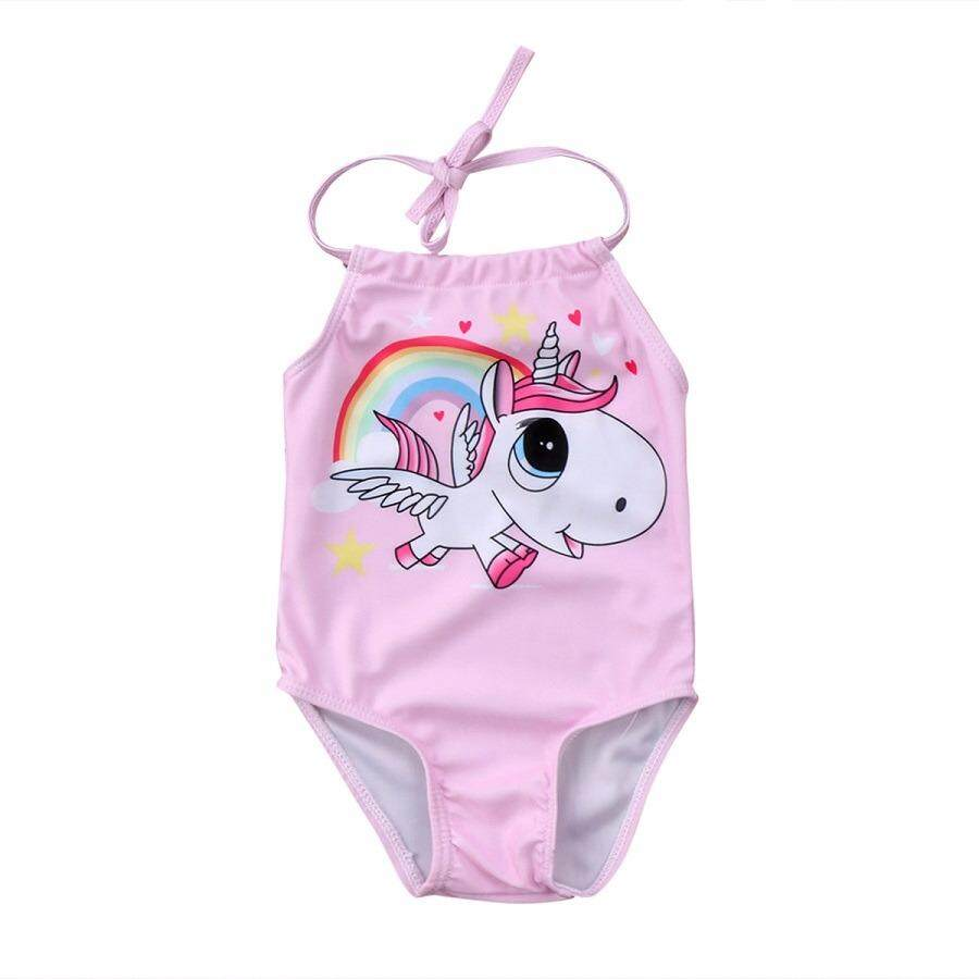 bb31f4316b7ac Infant Baby Girl Cartoon Swimwear Swimsuit Bathing Suit Beachwear Costume