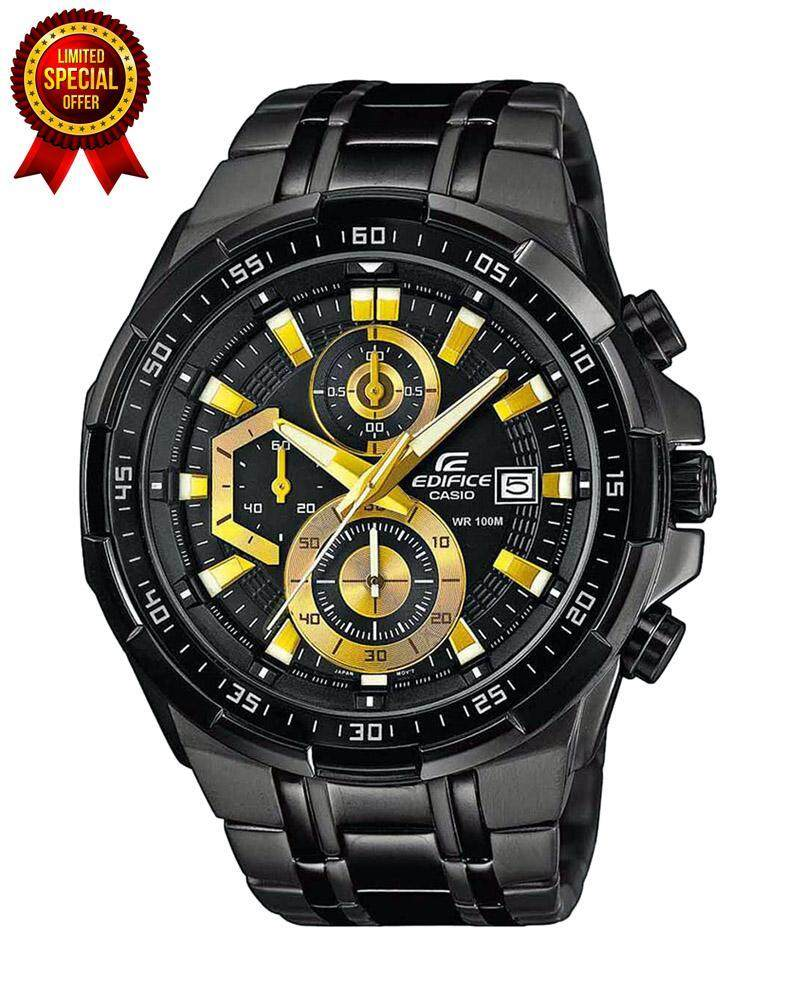 Special Promotion CasioEdifice EFR 539BK Black & Gold Men Watch Malaysia
