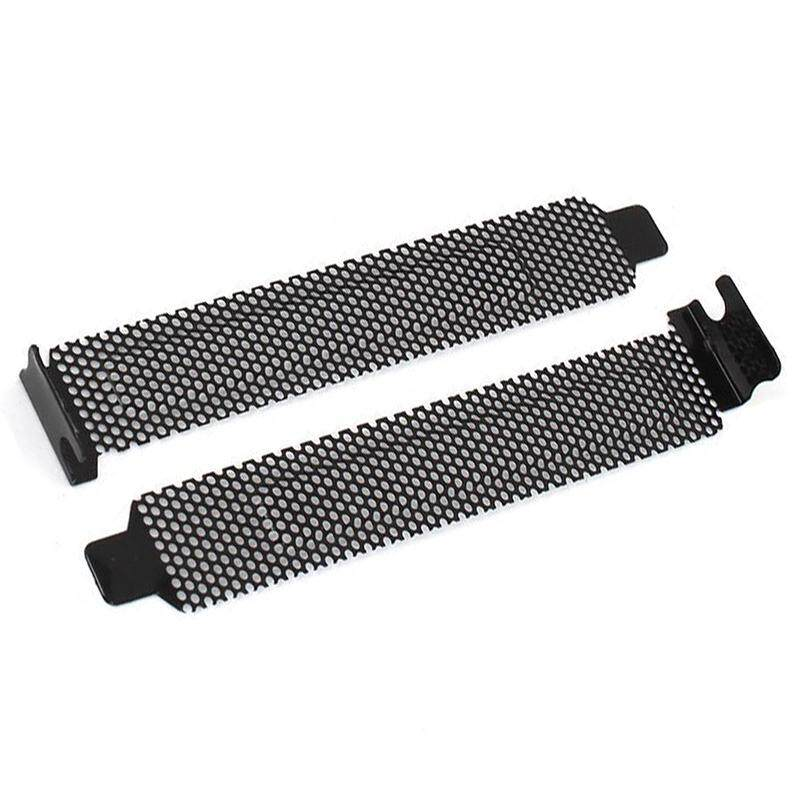 ade34ab9a56e 10 Pcs Hard Steel Dust Filter Blanking Plate PCI Slot Cover w Screws