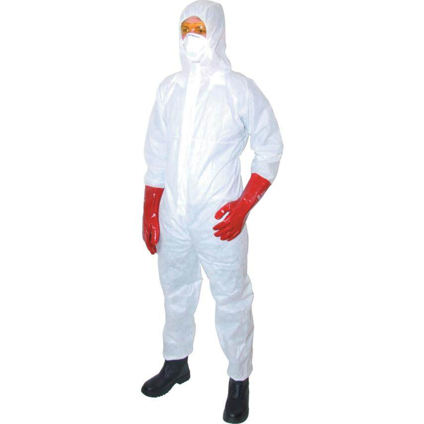 L Size Guard Master Disp Hooded Coverall White Tff9623812c By Ecis.