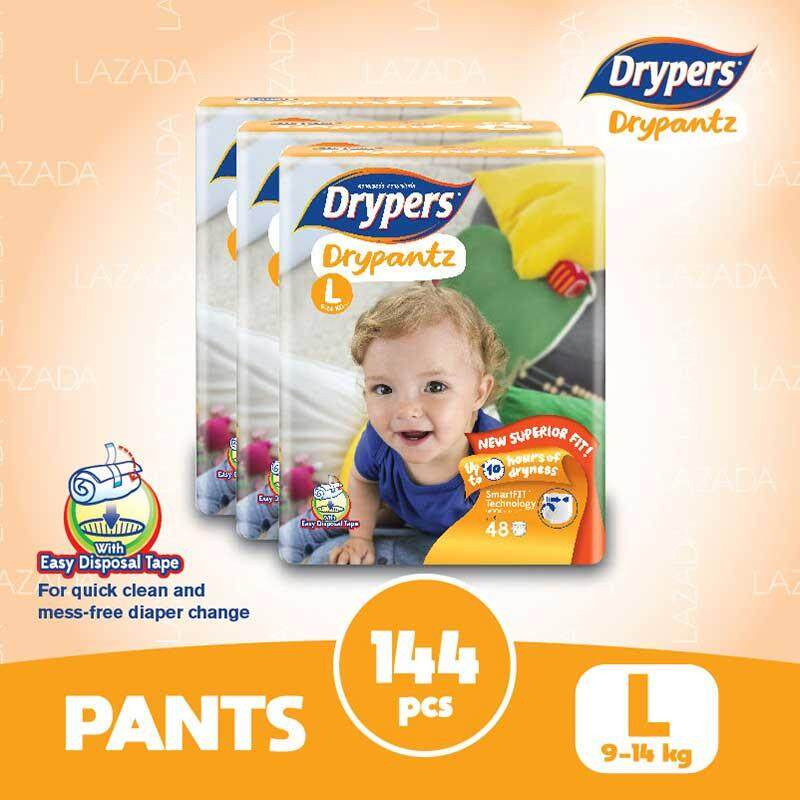 Drypers Drypantz L48 X 3 Packs (144 Pcs) By Lazada Retail Drypers.