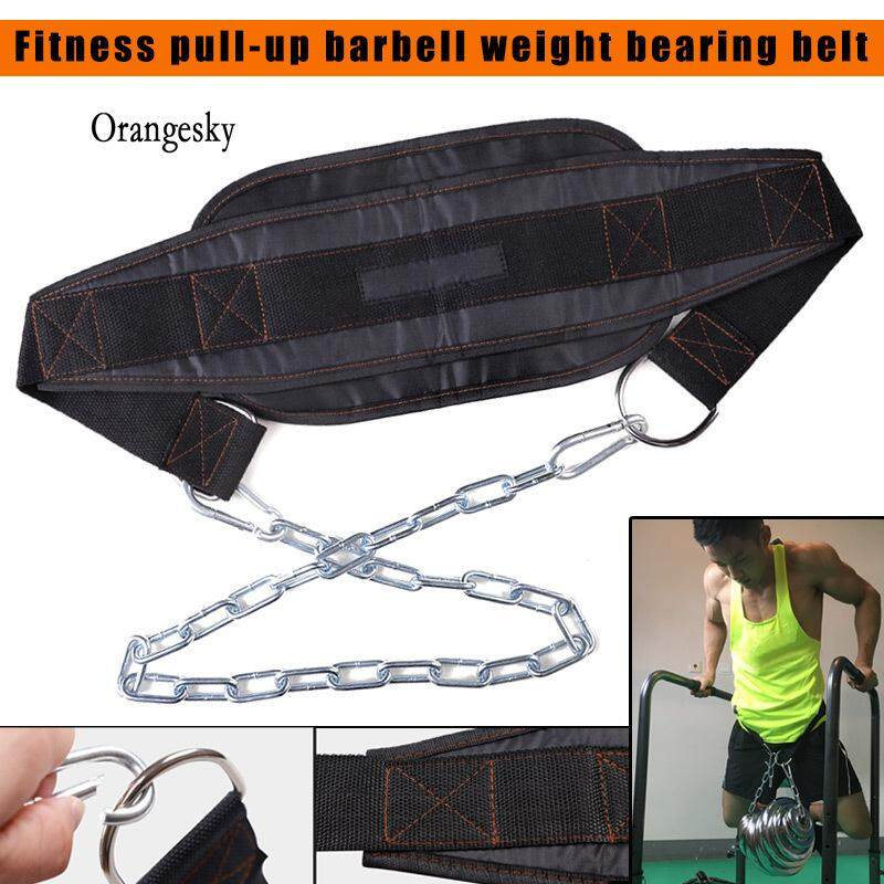 496be1e2224 Orangesky Iron Chain Fitness Belt Weightlifting Bodybuilding Workouts  Weight Pull-up Belt