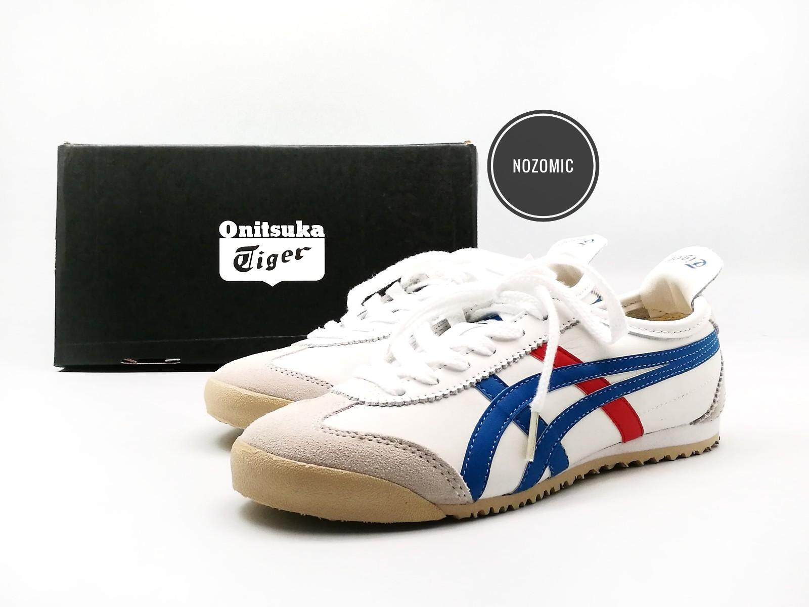 4dfcab3b7505e ... discount code for asics onitsuka tiger mexico 66 white base with blue  red stripes leather sneakers