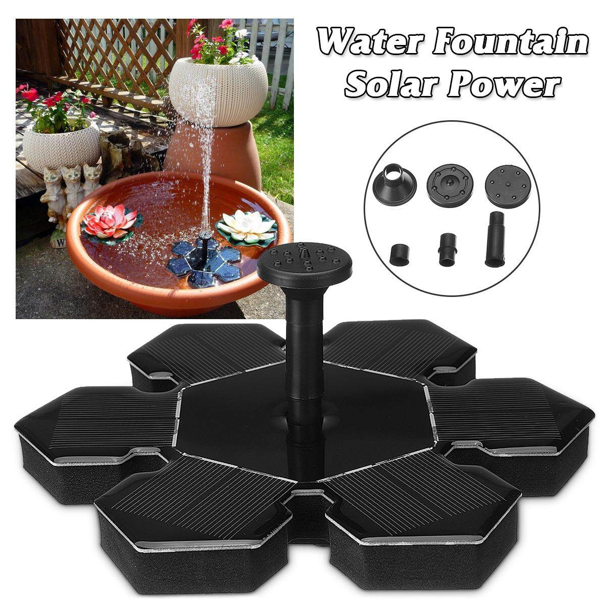 Mini Outdoor Floating Solar Power Water Fountain Submersible Pump Kit For Garden