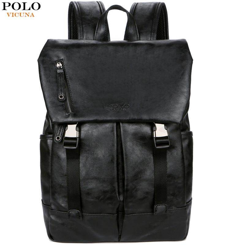 523a703aefec VICUNA POLO Anti-theft Large Capacity Men Backpack Bag Black Brand Men s  School Backpack Soft