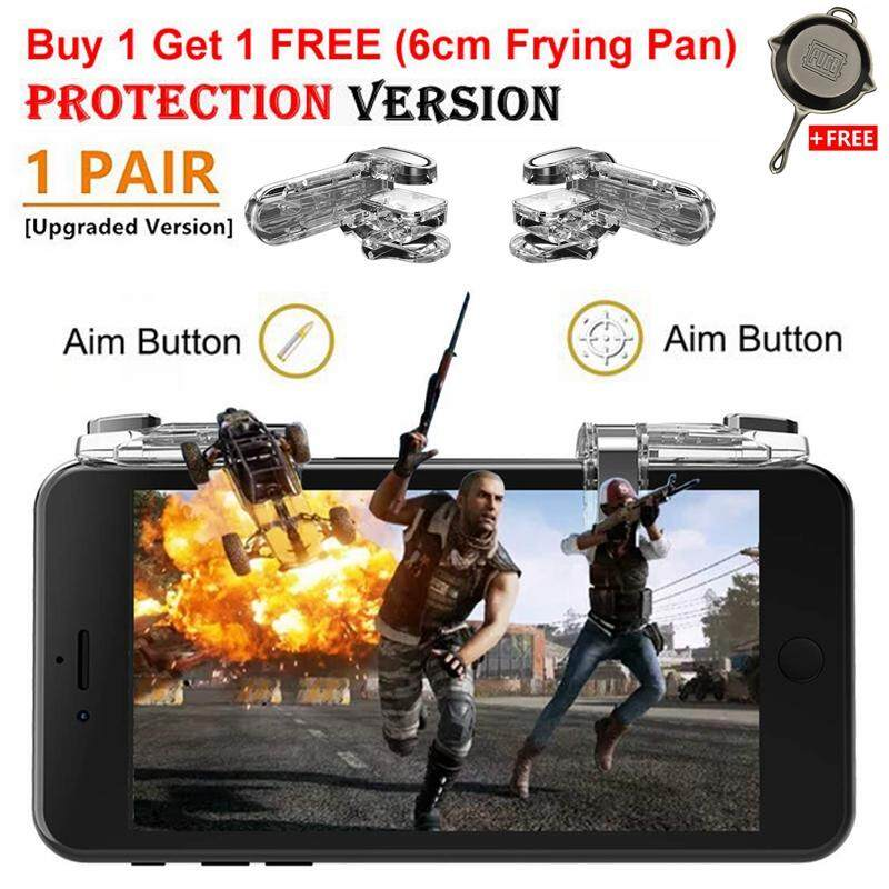 XC 1 Pair Best Mobile Fire Button Aim Key(Newest Version 98k) for PUBG Game  Rules of Survival Smart phone Mobile Gaming Trigger L1R1 Shooter
