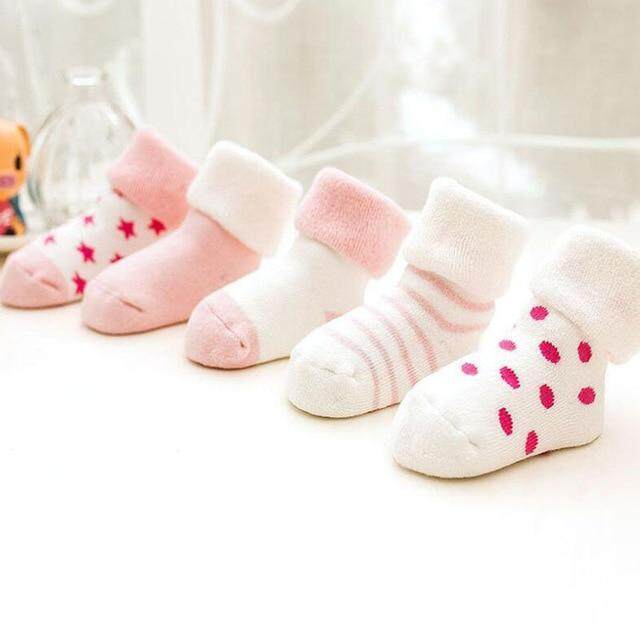 4 Pcs Cute And Lovely Socks For Baby Kids Girls Boys Aged 6months-18months By M&b.