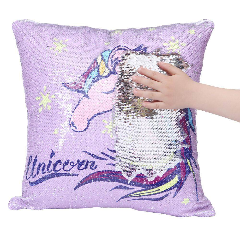 Home Pillow Cases Buy At Best Price In Malaysia With Embroider Sweet Dream Unicorn Rainbow Zebra Color Glitter Sequins Throw Cafe Decor Cushion