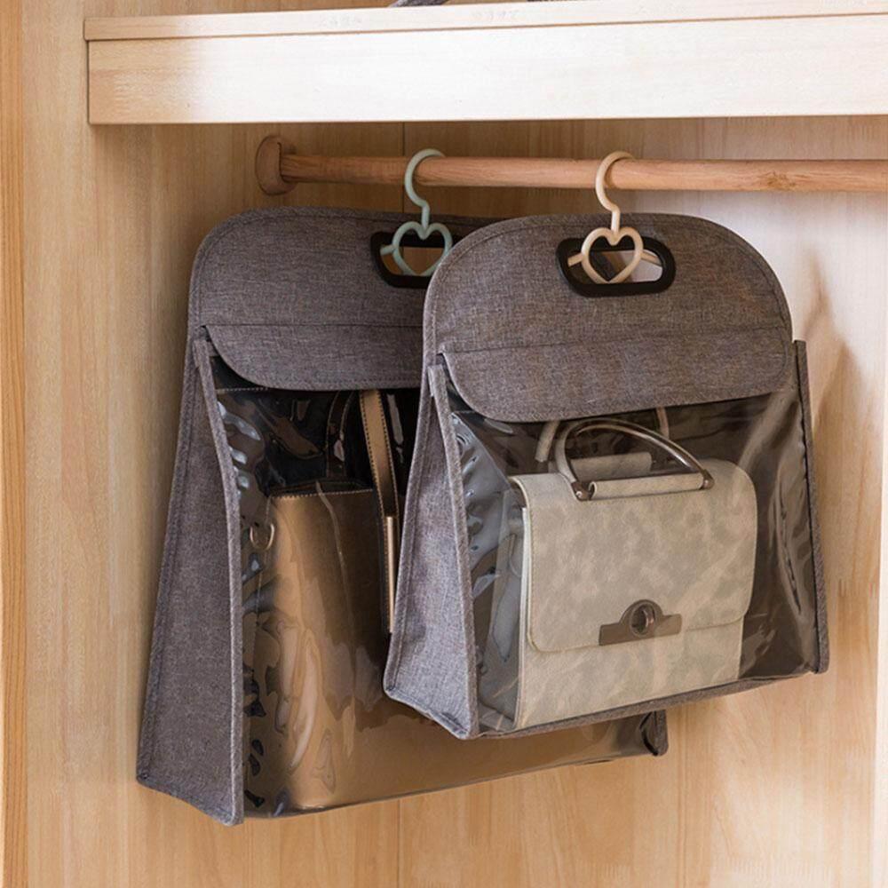 WE-WIN 1 PC Handbags Storage Dust Cover Bag Storage Hanging Closet Purse Organizer
