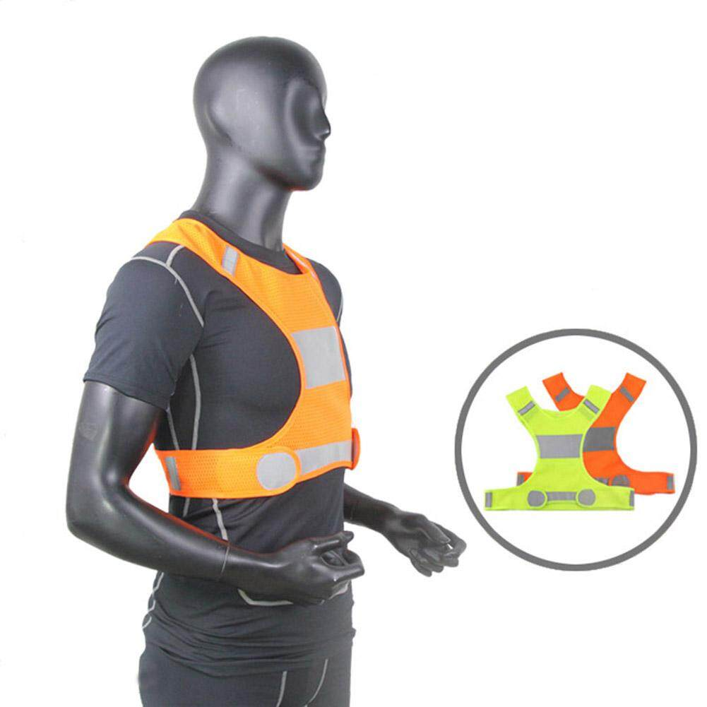 Magicaldream Adjustable Night Running Cycling Safety High Visibility Reflective Vest Jacket Size L