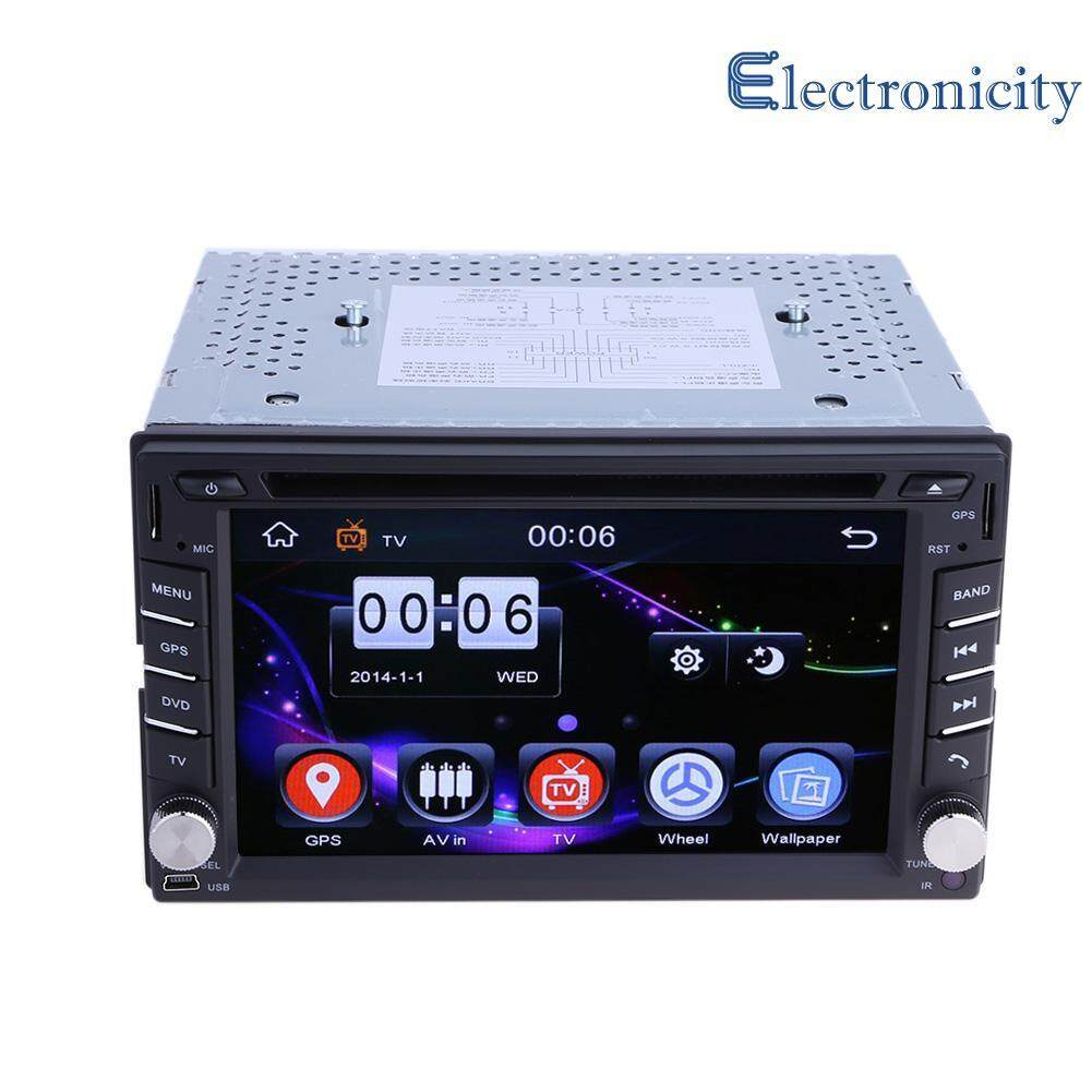 Gps Navigation 2din Hd Car Stereo Dvd Cd Player With Rearview Camera By Electronicity.