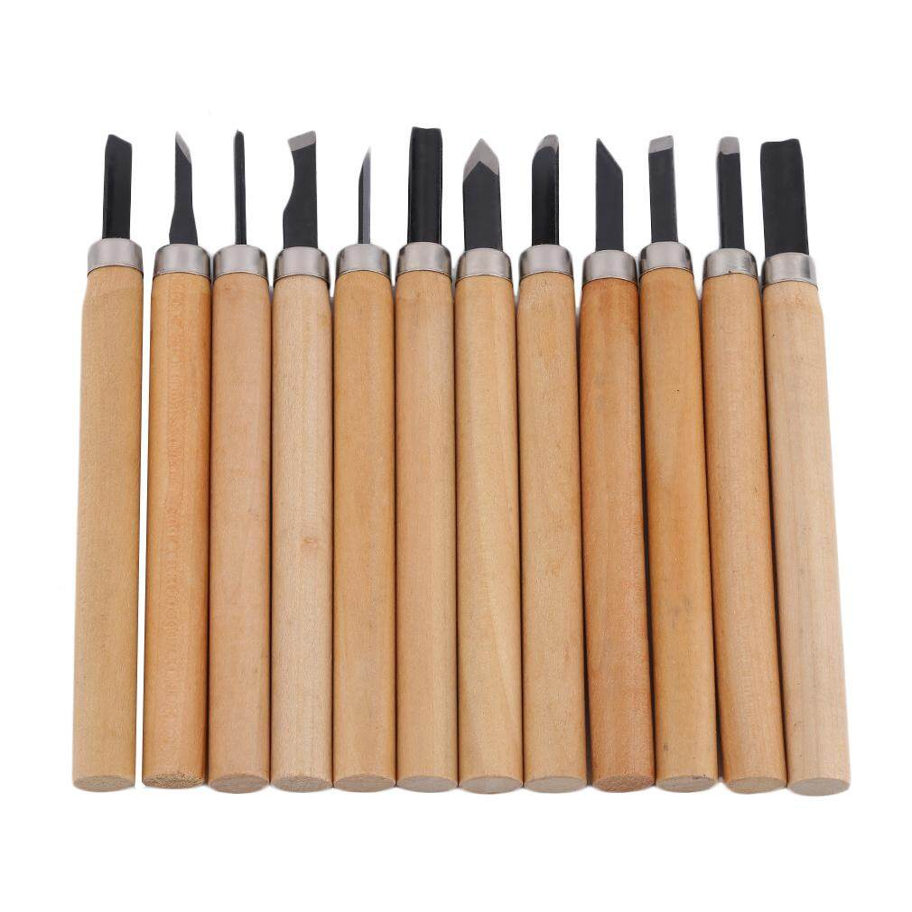 Crazy Sale 12/8/6Pcs Set Wood Carving Chisels Tool Kni*fe Woodcut Woodworking Craft Kit