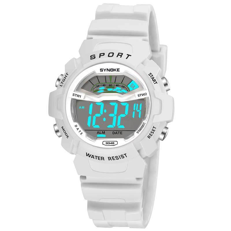 Women Kids Sports Watches Children Waterproof Watch Military Fashion Quartz Digital Watch Boys Wristwatch - Small - white Malaysia