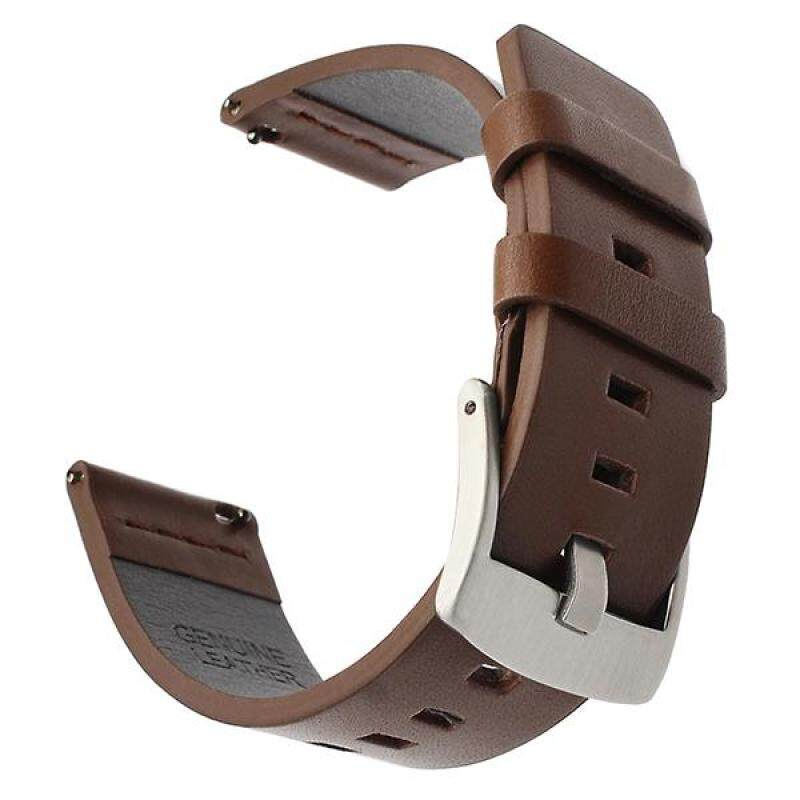Italy Oil Leather Watchband 22mm Quick Release Watch Band Universal Wrist Strap Steel Buckle Bracelet Black Brown Malaysia