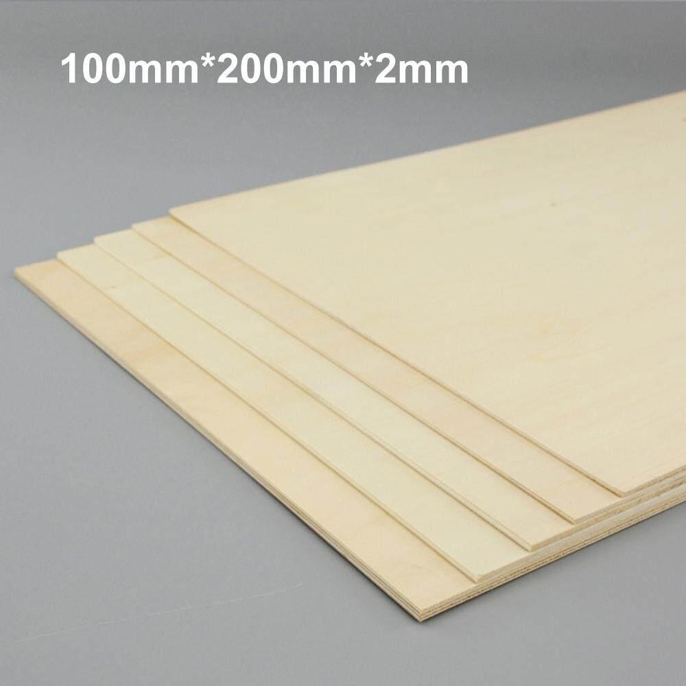 10Pcs Basswood Wood Sheet 3-Layer Laminated Board DIY Model Building House Aircraft Boat 2mm 2x100x200