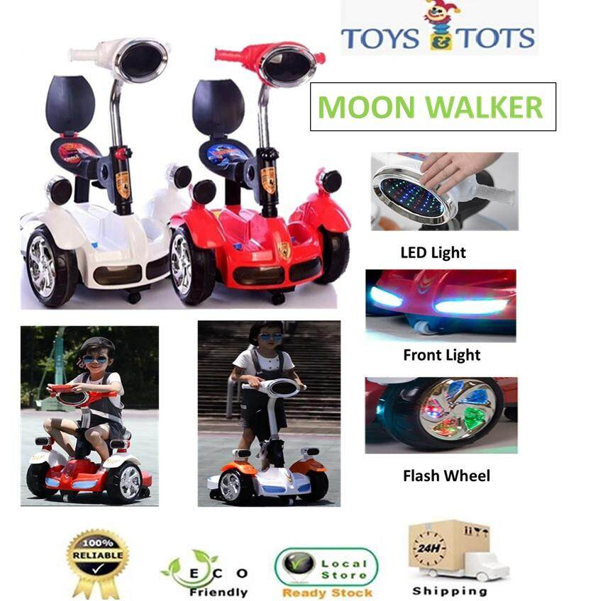 Kids 2 In 1 Balance Moon Walker Electric Scooter Car With Flash Light And Music By Toys & Tots.