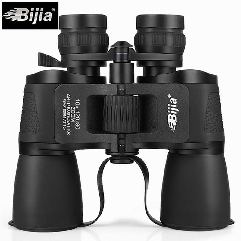BIJIA 10-120X80 High Magnification Long Range Zoom Hunting Telescope Wide Angle Professional Binoculars High
